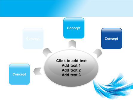 Light Blue Stripes PowerPoint Template Slide 7