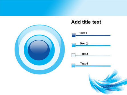 Light Blue Stripes PowerPoint Template Slide 9