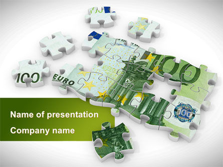 Financial/Accounting: Euro Puzzle PowerPoint Template #08777