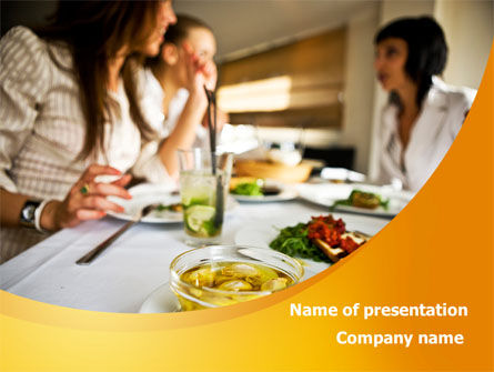 Friendly Meeting PowerPoint Template, 08780, People — PoweredTemplate.com
