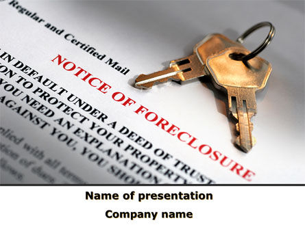 Notice Of Foreclosure PowerPoint Template, 08782, Financial/Accounting — PoweredTemplate.com