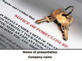 Financial/Accounting: Notice Of Foreclosure PowerPoint Template #08782