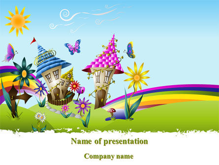 Summer Country PowerPoint Template, 08783, Education & Training — PoweredTemplate.com