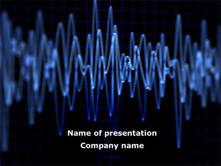 Technology and Science: Oscillography PowerPoint Template #08787