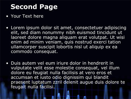 Oscillography PowerPoint Template, Slide 2, 08787, Technology and Science — PoweredTemplate.com