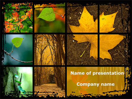 Nature & Environment: October's Leaves PowerPoint Template #08791
