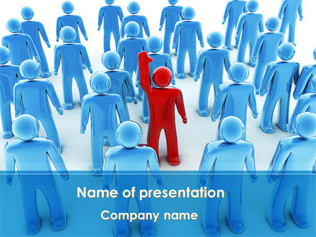 Leader In Crowd PowerPoint Template