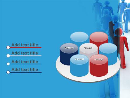 Leader In Crowd PowerPoint Template Slide 12