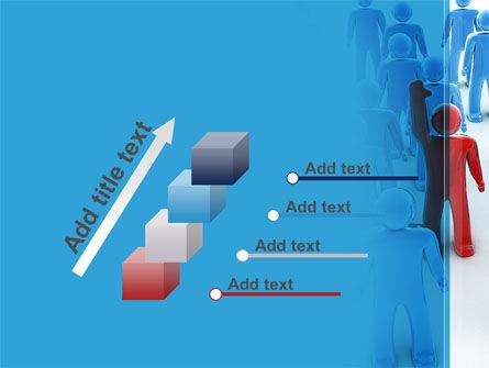 Leader In Crowd PowerPoint Template Slide 14