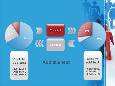 Leader In Crowd PowerPoint Template Slide 16