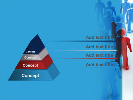Leader In Crowd PowerPoint Template Slide 4