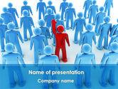 Education & Training: Plantilla de PowerPoint - líder en la multitud #08797