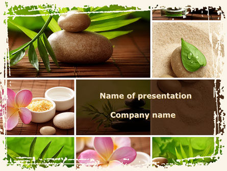 Spa Salon Relaxation PowerPoint Template, 08798, Health and Recreation — PoweredTemplate.com