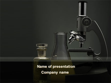 Technology and Science: Microscope Researches PowerPoint Template #08800