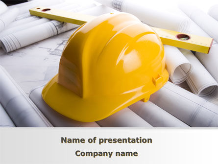 Careers/Industry: Architectural Control PowerPoint Template #08801
