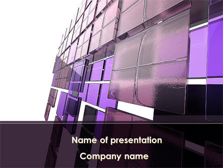 Purple Glass PowerPoint Template, 08804, Abstract/Textures — PoweredTemplate.com
