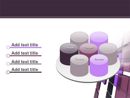Purple Glass PowerPoint Template Slide 12