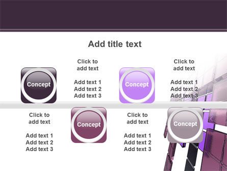 Purple Glass PowerPoint Template Slide 18