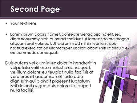 Purple Glass PowerPoint Template, Slide 2, 08804, Abstract/Textures — PoweredTemplate.com