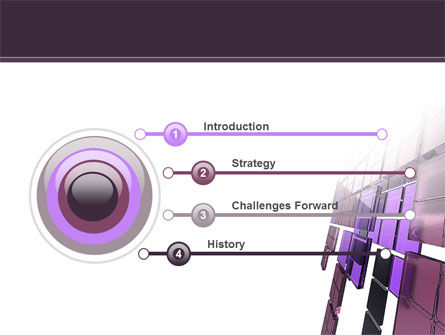 Purple Glass PowerPoint Template Slide 3