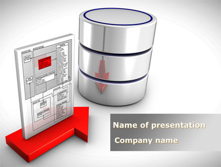 Technology and Science: Databank Development PowerPoint Template #08806