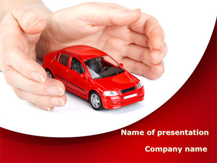 Careers/Industry: Private Car Insurance PowerPoint Template #08807