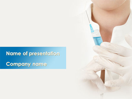 Medical: Nurse With Squirt PowerPoint Template #08808