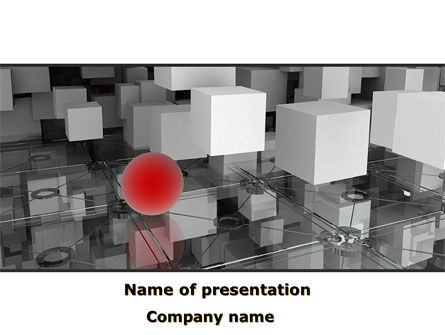 Abstract/Textures: Red Spot PowerPoint Template #08810