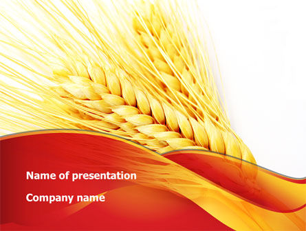 Agriculture: Wheat Harvest PowerPoint Template #08814