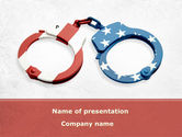 Legal: US Criminal Law PowerPoint Template #08816