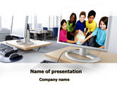 Education & Training: Computer Lectorium PowerPoint Template #08819