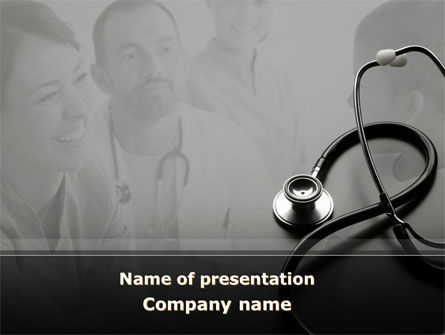 Medical: Phonendoscope PowerPoint Template #08820