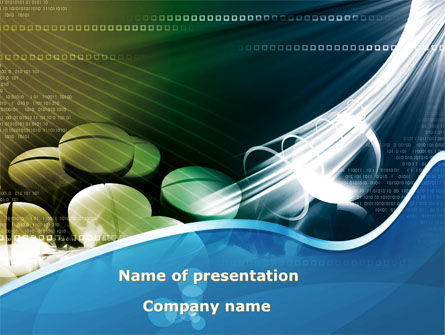 Falling Tablets PowerPoint Template