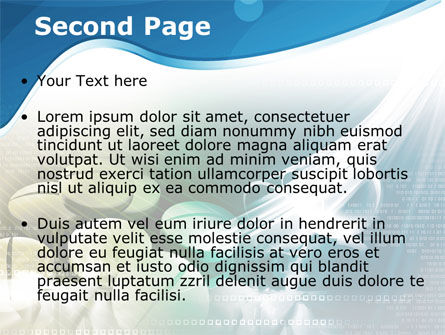 Falling Tablets PowerPoint Template Slide 2