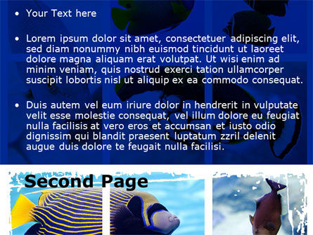 Tropical Fish Collage PowerPoint Template Slide 2