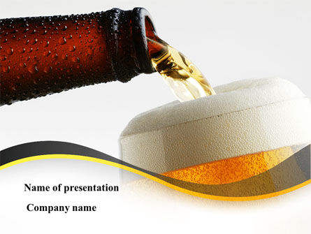 Food & Beverage: Beer Bottle PowerPoint Template #08825