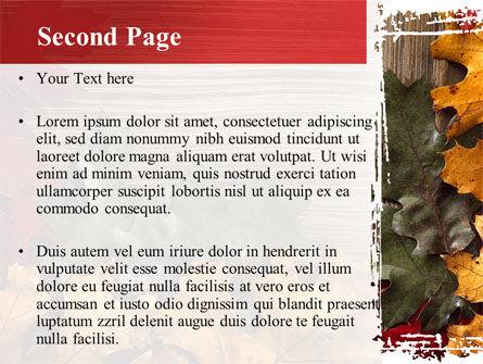 Leaf Litter PowerPoint Template, Slide 2, 08827, Nature & Environment — PoweredTemplate.com