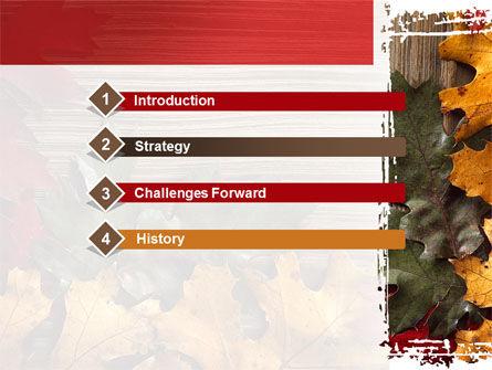 Leaf Litter PowerPoint Template, Slide 3, 08827, Nature & Environment — PoweredTemplate.com