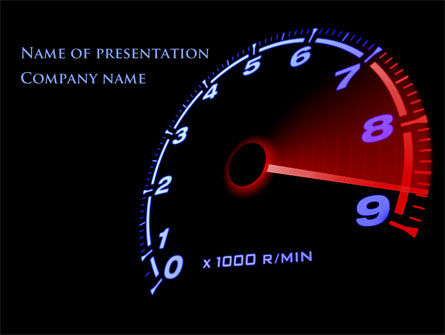 Tachometer PowerPoint Template, 08828, Cars and Transportation — PoweredTemplate.com