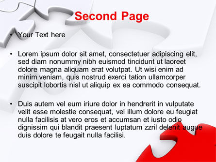 Puzzle Parts Folding PowerPoint Template Slide 2