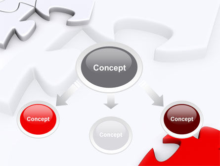 Puzzle Parts Folding PowerPoint Template, Slide 4, 08829, Business Concepts — PoweredTemplate.com