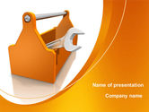 Utilities/Industrial: Wrench Box PowerPoint Template #08832