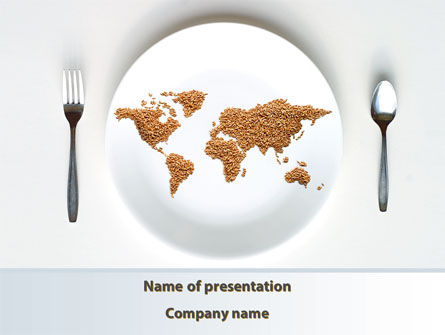 World Wide Food Market PowerPoint Template, 08834, Food & Beverage — PoweredTemplate.com