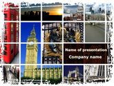 Flags/International: Plantilla de PowerPoint - vacaciones en londres #08836
