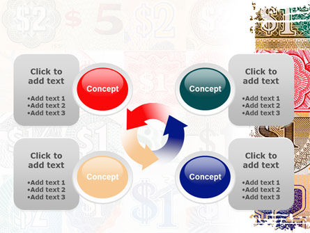 Dollar Banknotes PowerPoint Template Slide 9
