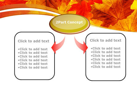 Red Leaves in Fall PowerPoint Template, Slide 4, 08841, Nature & Environment — PoweredTemplate.com