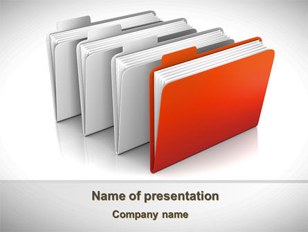 Folders PowerPoint Template, 08842, Careers/Industry — PoweredTemplate.com