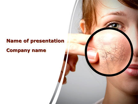 Medical: Face Care PowerPoint Template #08843