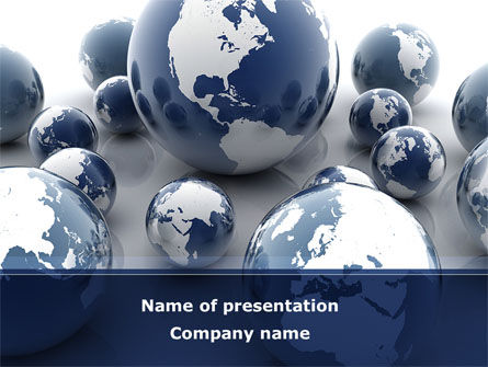 Global: Earth Globe PowerPoint Template #08845