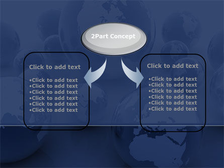 Earth Globe PowerPoint Template, Slide 4, 08845, Global — PoweredTemplate.com